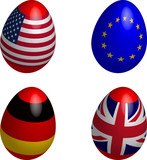 easter, eggs, flag, USA, EU, Germany, United Kingdom poster