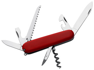 Swiss army knife isolated on white