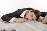 sleeping employee poster
