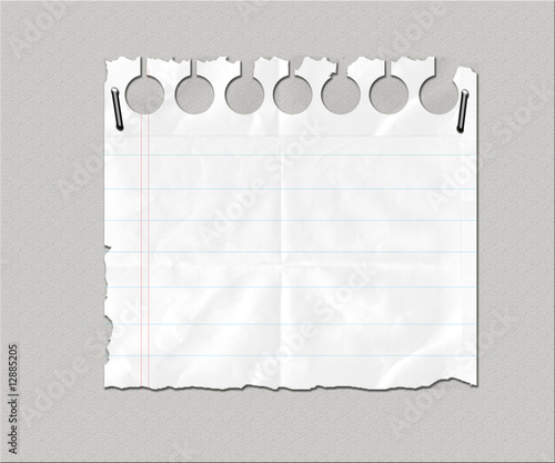 Lined Paper Texture. White Lined Paper Scrap