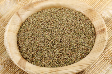 bowl of coriander seeds