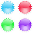 Glossy star icons
