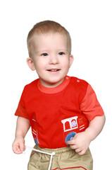 The playing cheerful kid