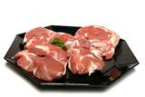assiette de viande crue poster