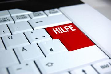 Hilfetaste auf einer Laptoptastatur