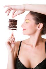 girl holding chocolate