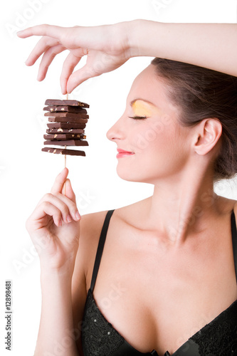 girl holding chocolate