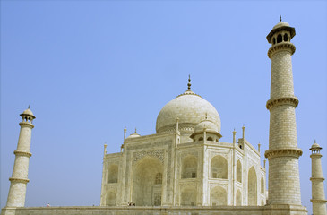 Side view of the Taj Mahal at Agra, India