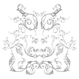 engraving ornament vector poster