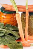 légumes frais et en conserves poster