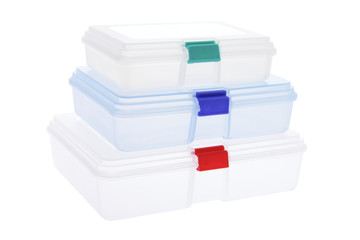 Stack of Plastic Boxes