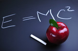 Apple and Einstein formula poster