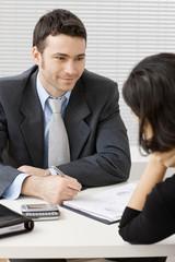 Businessman consulting