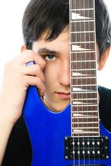young man with a guitar
