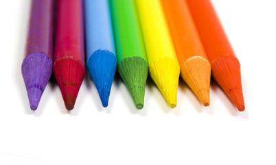 Pencils of seven colors