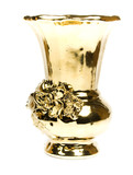 Fine gold vase with an ornament