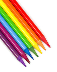 Pencils of seven colors