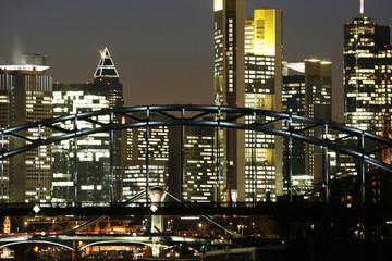 Skyline Frankfurt Banken nahe