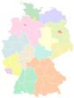 Deutschland - Bundesländer und Regionen nach NUTS-2 level