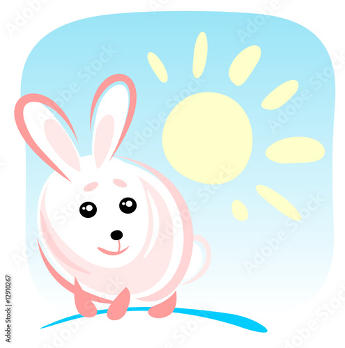 rabbit and sun