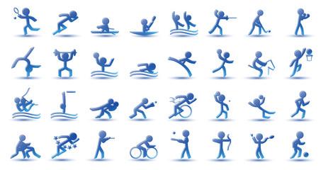 Icônes de Sport (bleu)