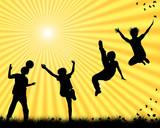 Fototapety children playing