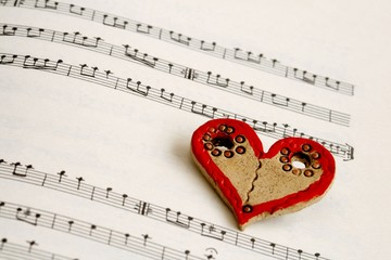 Heart and notes