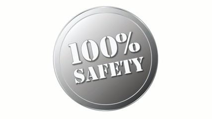 Siegel oder Stempel mit 100% safety