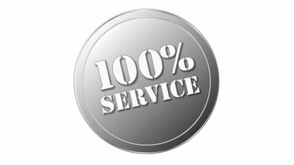 Siegel oder Stempel mit 100% Service