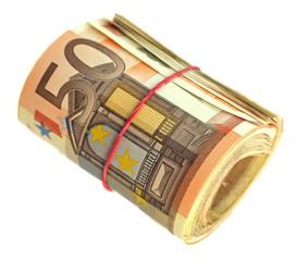rouleau de billets de 50 euros