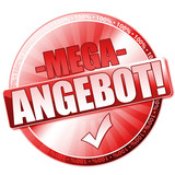 Mega Angebot Button poster