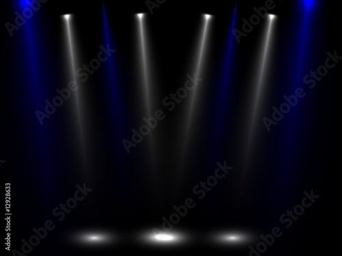 Fotobehang Licht, schaduw multistrahler