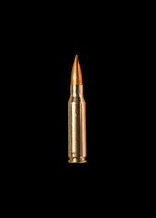 Bullet on black background