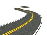 Fototapety Long winding road illustration