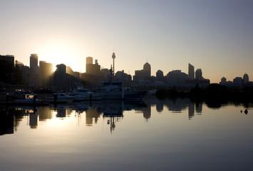 Silhouette of Sydney Skyline