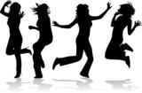 Fantastic girls jump poster