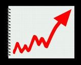 Chart graph success increase poster