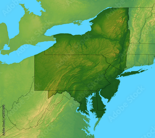 Northeastern United States Map