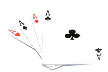 Four Aces showing on a white background