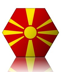 macedoine drapeau hexagone macedonia flag