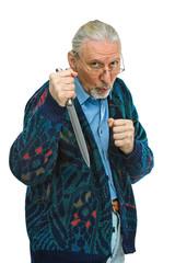 Alter Mann wehrt sich gegen Angreifer
