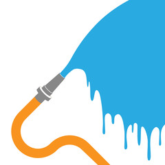 water coming out of a pipe - vector illustration