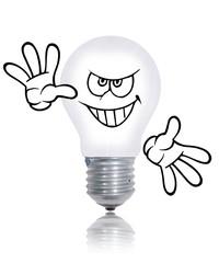 ampoule méchante acceuille clients