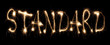 Word standard written sparkler.