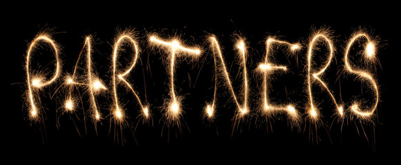Word partners written sparkler.