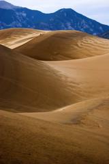 Walking in sand dunes