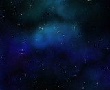 deep space night sky poster