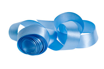 satin blue ribbon