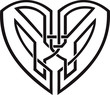 Celtic heart - tribal tattoo