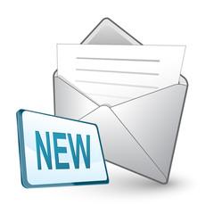 new e-mail - screen